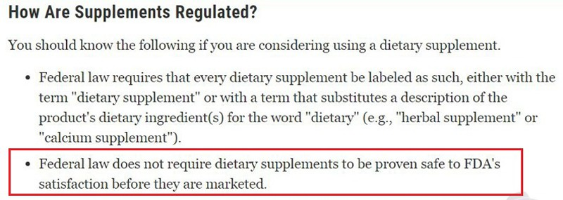 Are Total Life Changes Products FDA Approved?