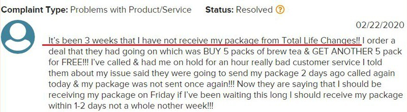 TLC Delayed Product Orders