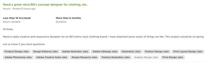 Clothing Concept Designer Side Hustles