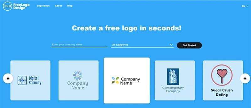 Step 1: Go to Free Logo Design
