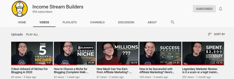 Income Stream Builders YouTube Channel