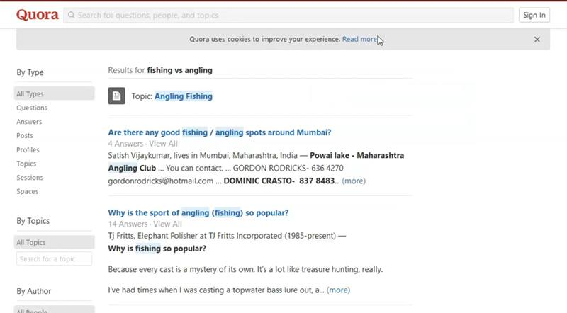 Read comments from quora for domain name ideas