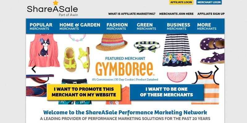 Top Affiliate Marketing Network ShareASale