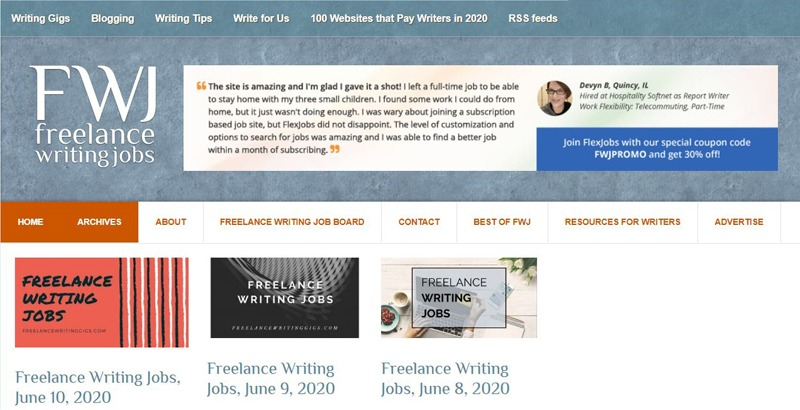 Freelance Writing Jobs (FWJ)