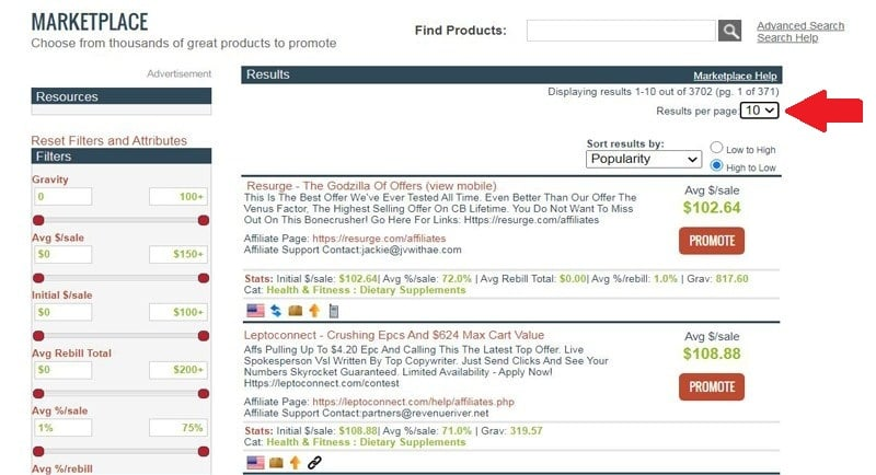 ClickBank Top Affiliate Products