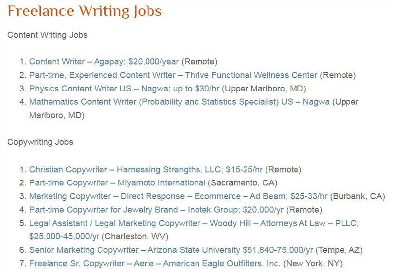 Freelance Writing Jobs Average Rates