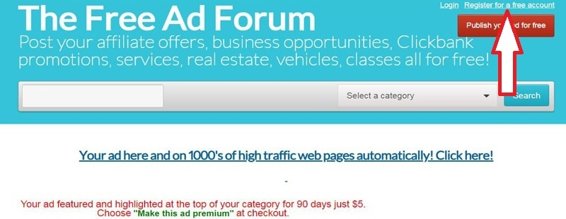 How To Create An Account On Free Ad Forum
