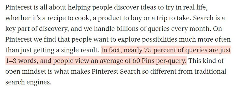 How Pinterest Users Search Keywords