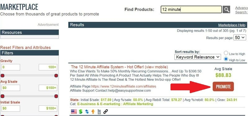 ClickBank 12 Minute Affiliate System