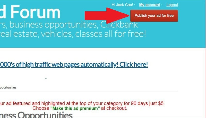 How To Post Ads On Free Ads Forum