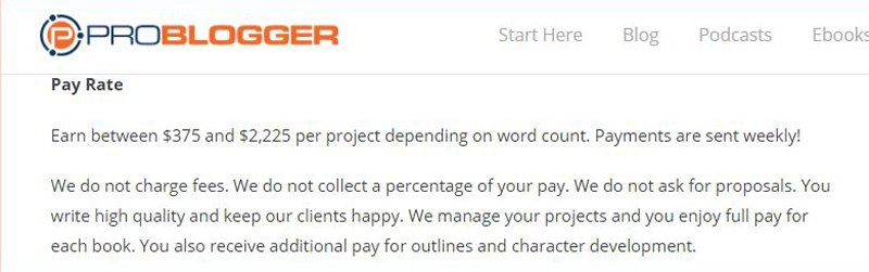 How Much Freelance Writers Earn With ProBlogger