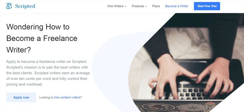 Scripted Freelance Website For Writers