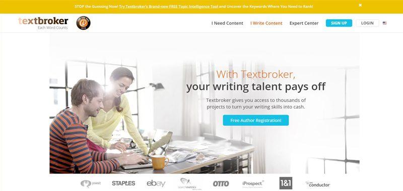 TextBroker Freelance Website For Writers