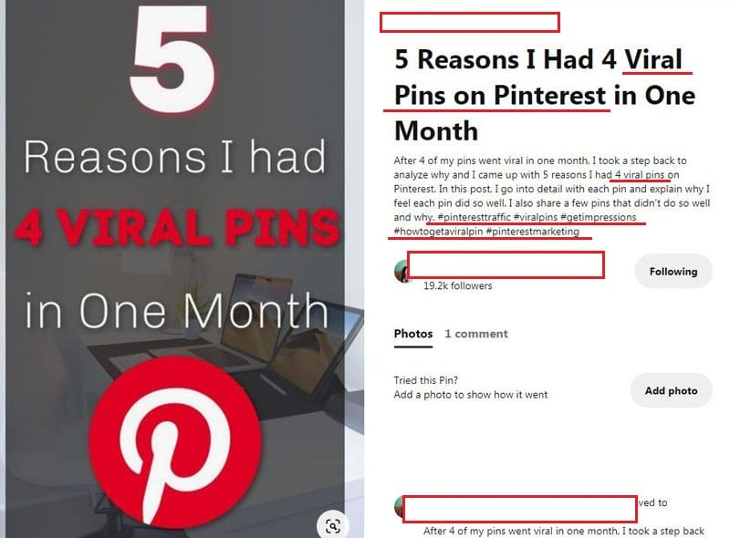 How to create good pin descriptions
