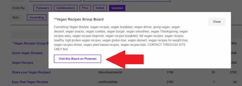 How to join group boards on PINGROUPIE