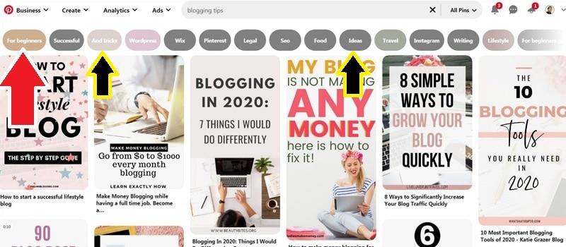 Pinterest Blogging Tips For Beginners
