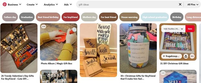 Pinterest gift ideas niche