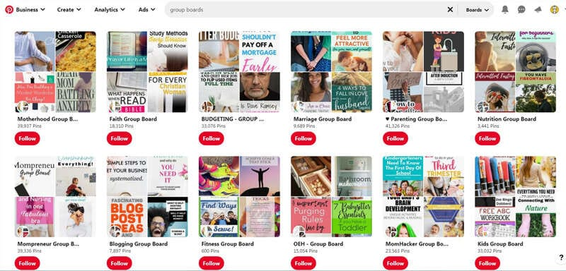 What are Pinterest group boards