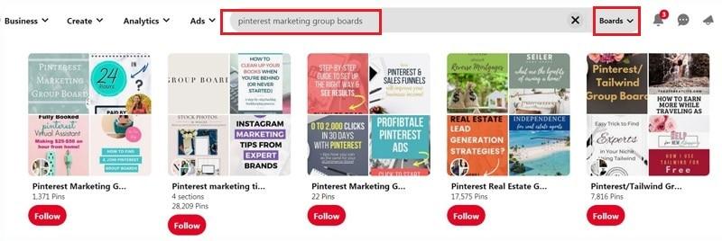 Pinterest Marketing Group Boards