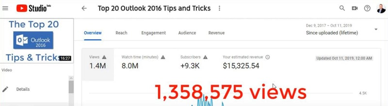 How much can you earn from educational YouTube videos