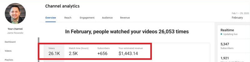 How much can you earn on YouTube