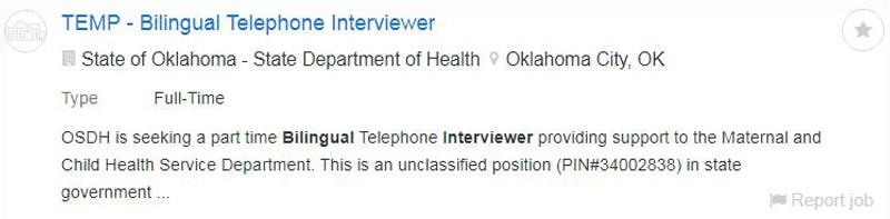 Interviewer online jobs for bilinguals